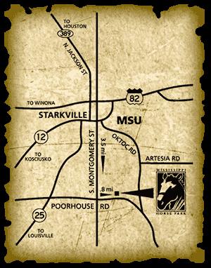 directions mississippi horse park